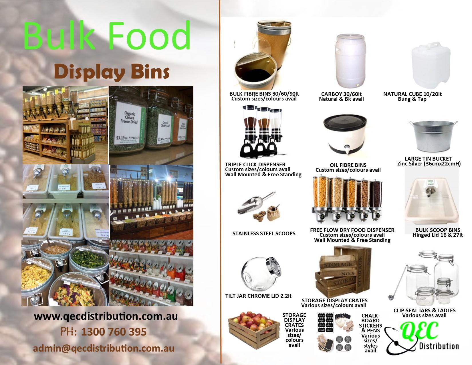 Bulk Dry Food Bins | Promotions | Crates | fibre Bins | Dispenser | Display Bins |