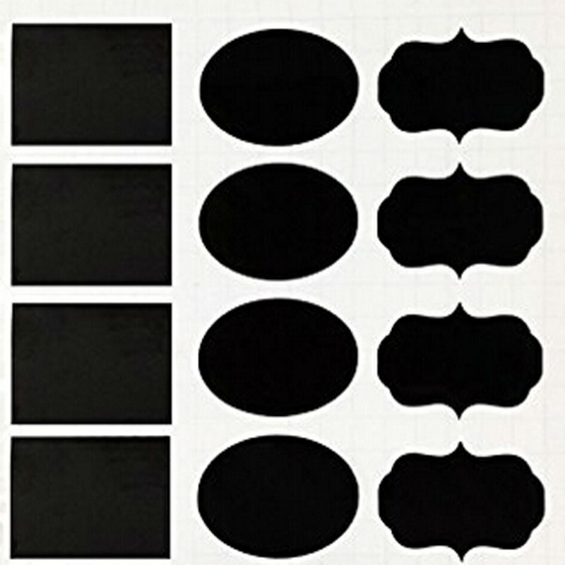 Chalkboard Labels | Vinyl PVC | 3 shapes Labels | Mason Jar | Self-adhesive |