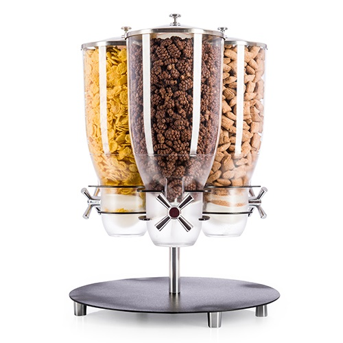 Idm Dispenser | KELL300C-BL | Wing & Tap | 3 Carousel Containers| Cereal | Lollies | Snack |