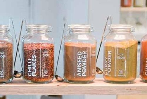 Ladles hanging off fido jars