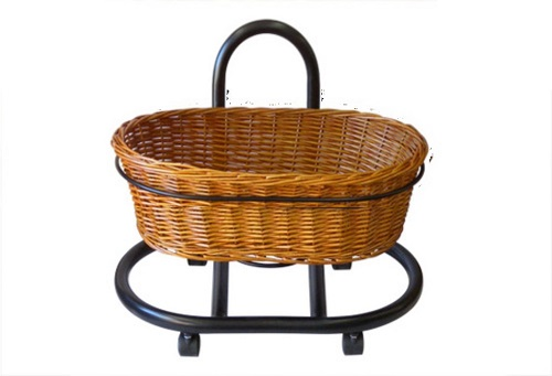 Wicker Basket Oval | Single Tier Free Stand | Display Basket Health food |