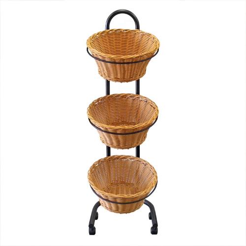 Wicket Round Basket Triple | Foodgrade | Triple Tier |