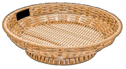 Polywicker Display Basket Small Round
