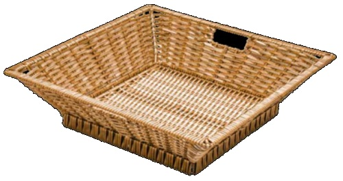 Polywicker Display Basket Square small top