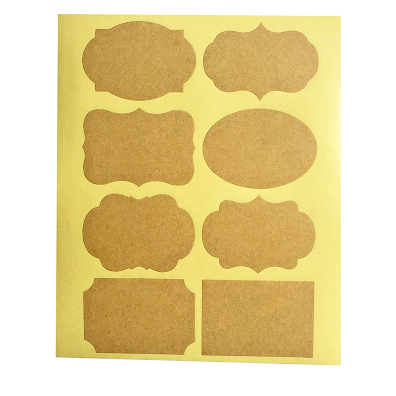 Kraft  Labels | paper | Mason Jar | Self-adhesive |