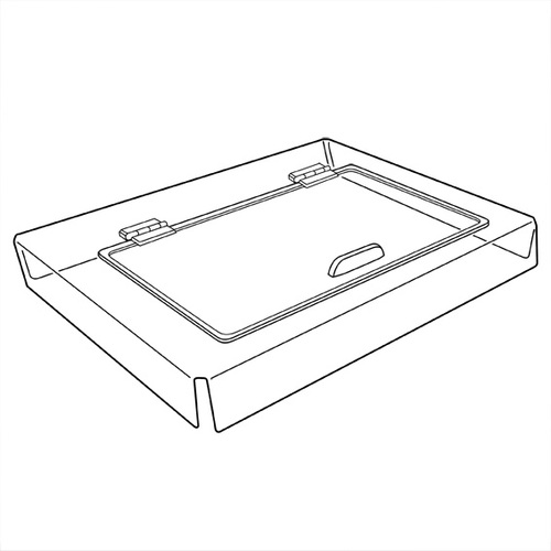 Slanted Wooden Crate Lid suits WCS