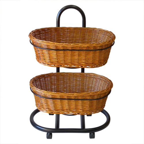 Wicker Oval Basket | 2 tier stand set | Health food stores | Pet store |