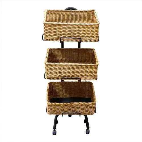 Wicket Rectangle Basket | 3 Tier Stand set | Health food stores | Pet store |