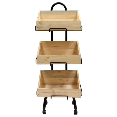 Wooden Crate   Triple Stand Set   Dry Food   Vegetables   Dog Treats   Displays crates   packing Crate